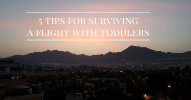 5 Tips for surviving a flight with toddlers