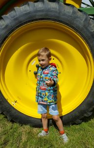 A Day Out On The Farm Big Tractor wheel