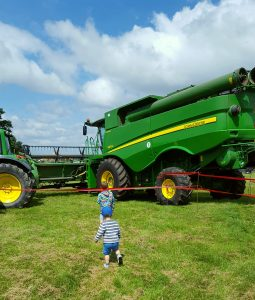 A day out on the farm combine harvester