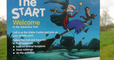 Room on the broom trail at Anglers Park, Wakefield